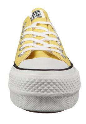Converse Chucks Plateau Yellow 564385C Chuck Taylor All Star Lift - OX Butter Yellow Black White – Bild 3