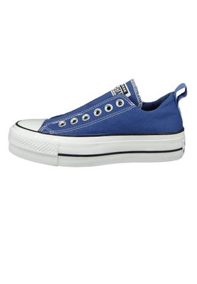 Converse Chucks Plateau Blau 564339C Chuck Taylor All Star Lift - SLIP Washed Indigo Black White – Bild 2
