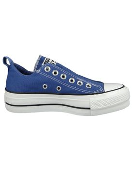 Converse Chucks Plateau Blau 564339C Chuck Taylor All Star Lift - SLIP Washed Indigo Black White – Bild 4