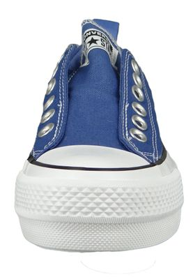 Converse Chucks Plateau Blau 564339C Chuck Taylor All Star Lift - SLIP Washed Indigo Black White – Bild 5