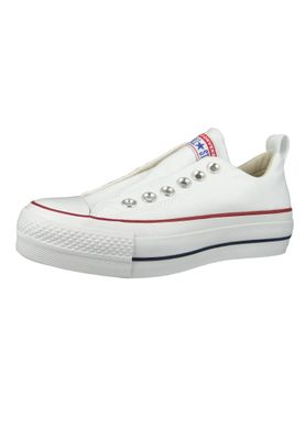 Converse Chucks Plateau Weiss 563457C Chuck Taylor All Star Lift - SLIP White Red Blue – Bild 1