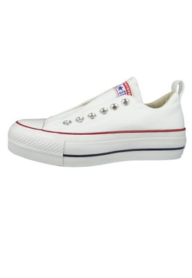 Converse Chucks Plateau Weiss 563457C Chuck Taylor All Star Lift - SLIP White Red Blue – Bild 2