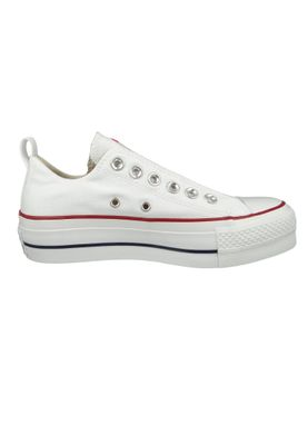 Converse Chucks Plateau Weiss 563457C Chuck Taylor All Star Lift - SLIP White Red Blue – Bild 4