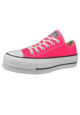 Converse Chucks Plateau Pink 565501C Chuck Taylor All Star Lift - OX Racer Pink White – Bild 2