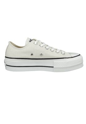 Converse Chucks Plateau Grau 565502C Chuck Taylor All Star Lift - OX Pale Putty White Black – Bild 4
