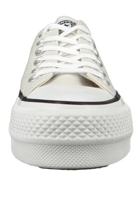 Converse Chucks Plateau Grau 565502C Chuck Taylor All Star Lift - OX Pale Putty White Black – Bild 3