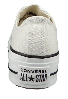 Converse Chucks Plateau Grau 565502C Chuck Taylor All Star Lift - OX Pale Putty White Black – Bild 5