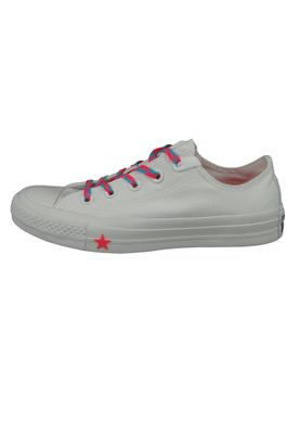 Converse Chucks Weiss 564117C Chuck Taylor All Star - OX White Racer Pink Gnarly Blue – Bild 2