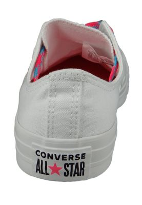 Converse Chucks Weiss 564117C Chuck Taylor All Star - OX White Racer Pink Gnarly Blue – Bild 3