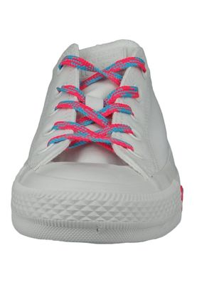 Converse Chucks Weiss 564117C Chuck Taylor All Star - OX White Racer Pink Gnarly Blue – Bild 5