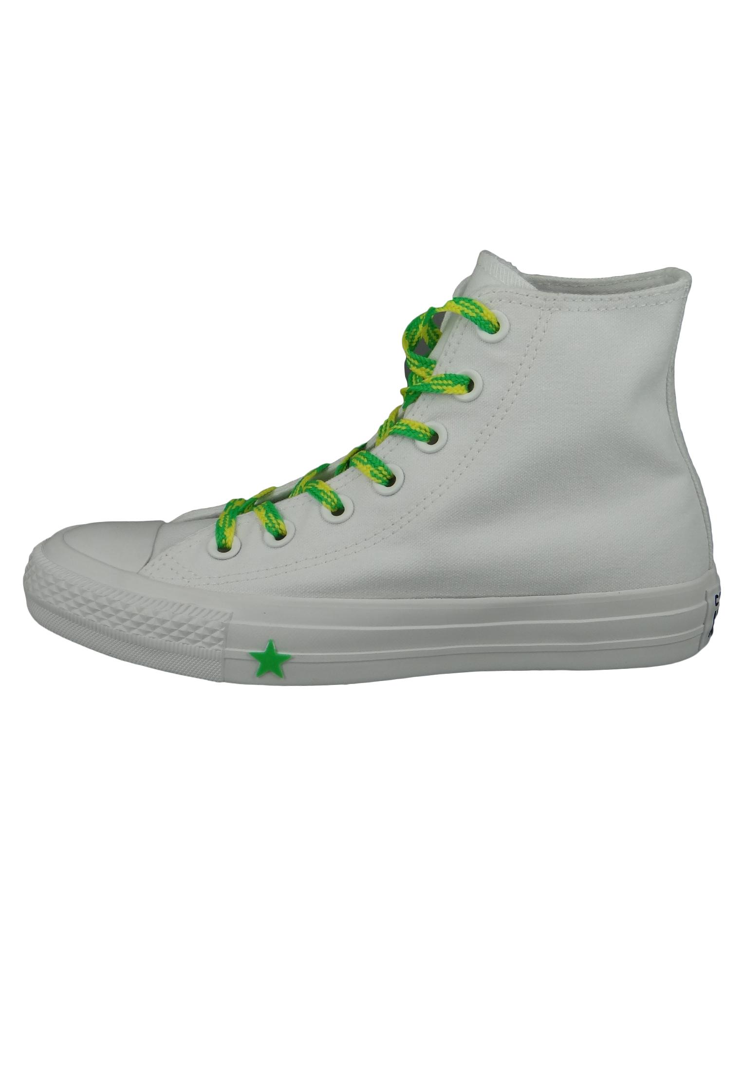 Converse Chucks Weiss 564123C Chuck Taylor All Star HI White Acid Green Fresh Yellow