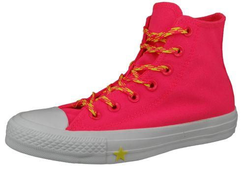 Converse Chucks Pink  564122C Chuck Taylor All Star - HI Racer Pink Fresh Yellow White – Bild 1