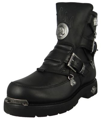 Harley Davidson D94167 Distortion Herren Biker Boots Engineerstiefel Black Schwarz – Bild 1