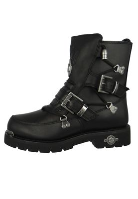 Harley Davidson Biker Boots D94167  Distortion Engineerstiefel Schwarz Black – Bild 2