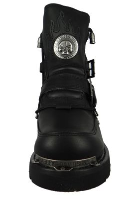 Harley Davidson D94167 Distortion Herren Biker Boots Engineerstiefel Black Schwarz – Bild 6