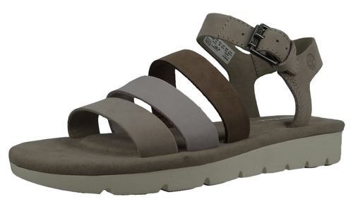 Timberland A1XVJ Lottie Lou 3-Band Sandal Women's Sandals Simply Taupe Beige Light Gray – Bild 1