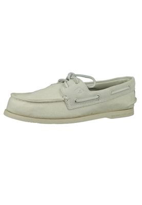 Sperry Men's Boat Shoes STS19368 A / O 2 Eye LINEN White White – Bild 1