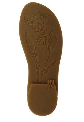 El Naturalista N5181 Tulip Women's Leather Sandal Vaquetilla Fantasy Carbon Black – Bild 3