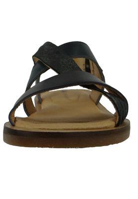 El Naturalista N5181 Tulip Women's Leather Sandal Vaquetilla Fantasy Carbon Black – Bild 7