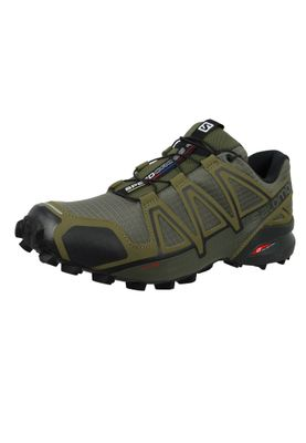 Salomon Herren Schuhe Speedcross 4 Olive Laufschuhe 407378 Grape Leaf Burnt Olive Black – Bild 2