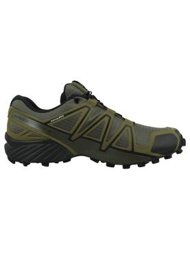 Salomon Herren Schuhe Speedcross 4 Olive Laufschuhe 407378 Grape Leaf Burnt Olive Black – Bild 5