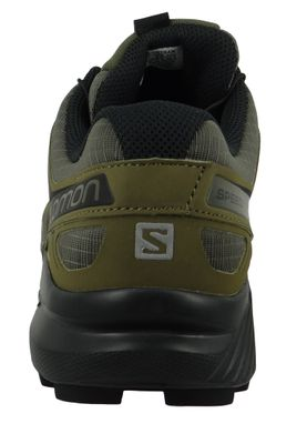 Salomon Herren Schuhe Speedcross 4 Olive Laufschuhe 407378 Grape Leaf Burnt Olive Black – Bild 4