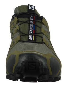 Salomon Herren Schuhe Speedcross 4 Olive Laufschuhe 407378 Grape Leaf Burnt Olive Black – Bild 6