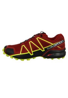 Salomon Herren Schuhe Speedcross 4 Weinrot Laufschuhe 407390 Red Dahlia Black Softy Yellow – Bild 2