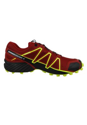 Salomon Herren Schuhe Speedcross 4 Weinrot Laufschuhe 407390 Red Dahlia Black Softy Yellow – Bild 4