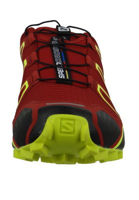 Salomon Herren Schuhe Speedcross 4 Weinrot Laufschuhe 407390 Red Dahlia Black Softy Yellow – Bild 5