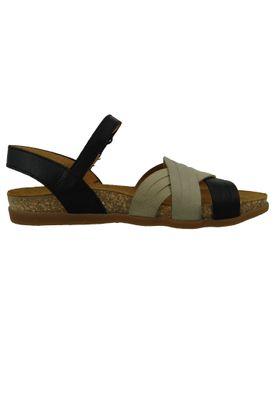 El Naturalista N5242 Zumaia Women's Leather Sandal Noir Mixed Black Beige – Bild 5