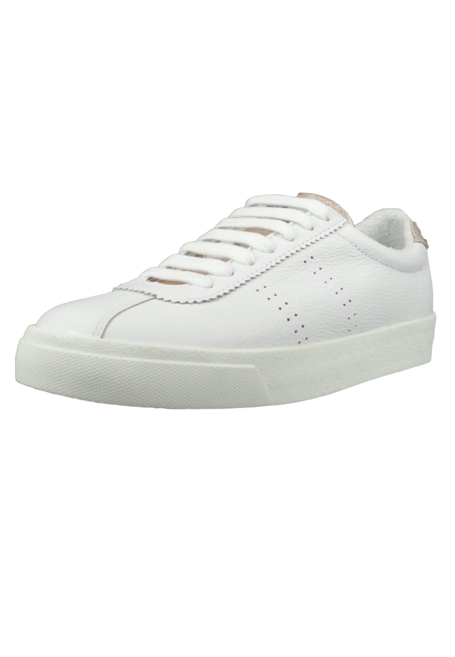 hohe Qualität erster Blick super günstig im vergleich zu Superga Schuhe Damen Sneaker S00C4F0 2843 Comflealme Leder Weiss White Rose  Platinum