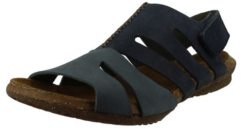 El Naturalista N5065 Wakataua Women's Leather Sandal Leather Pleasant Ocean Vaquero Blue – Bild 1