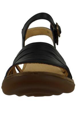 El Naturalista N5352 Aqua Damen Leder Sandale Sandalette Leather Vaquetilla Black Schwarz – Bild 5