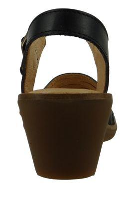 El Naturalista N5352 Aqua Women's Leather Sandal Sandal Leather Vaquetilla Black Black – Bild 4