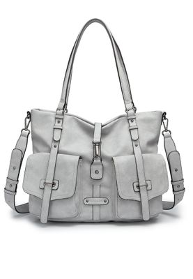 Tamaris Tasche Bernadette Shopping Bag Schultertasche Light Grey Grau