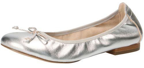 Caprice 9-22102-22 022 Damen Ballerina Leder Silver Metallic Silber – Bild 1