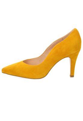 Caprice 9-22412-22 641 Damen Leder Yellow Suede Gelb High-Heel Pumps – Bild 3