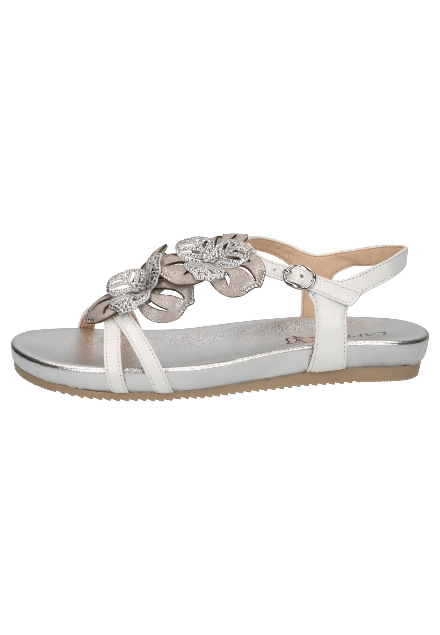 best sneakers 77e6c b19a8 Caprice Damen Sandale Sandalette Weiss 9-28107-22 197 White Comb