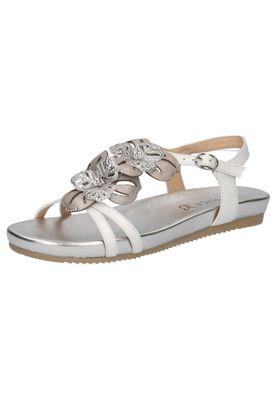 Caprice Damen Sandale Sandalette Weiss 9-28107-22 197 White Comb – Bild 1