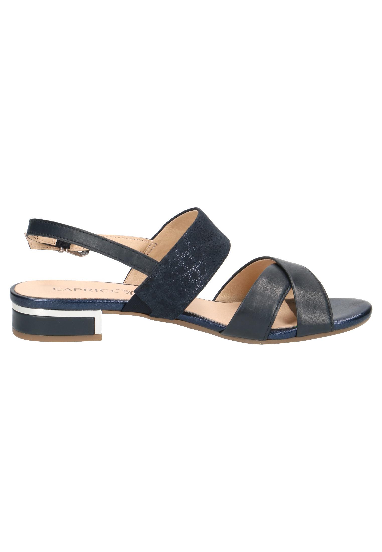 newest 7c8a1 4f32b Caprice Damen Sandale Sandalette Blau 9-28143-22 880 Ocean Comb.