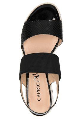 Caprice Damen Sandale Sandalette Schwarz 9-28202-22 019 Black Comb – Bild 5