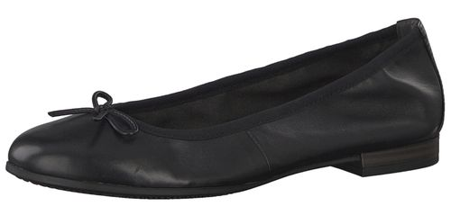 Tamaris 1-22116-22 001 Women's Black Black Leather Ballerina with TOUCH-IT sole – Bild 1