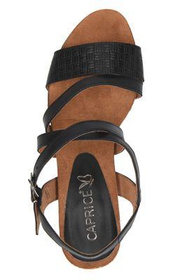 Caprice Damen Sandale Sandalette Schwarz 9-28305-22 022 Black Nappa – Bild 5