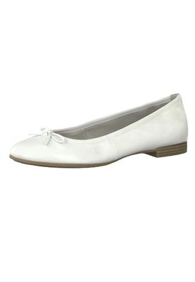 Tamaris 1-22116-22 100 Womens White White Leather Ballerina with TOUCH-IT Sole – Bild 1