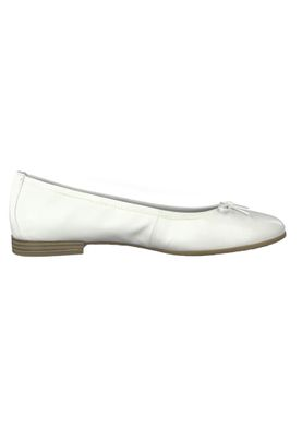 Tamaris 1-22116-22 100 Womens White White Leather Ballerina with TOUCH-IT Sole – Bild 5
