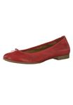 Tamaris 1-22116-22 533 Ladies Chili Red Leather Ballerina with TOUCH-IT sole 001