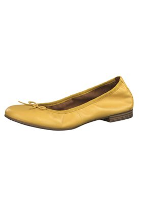 Tamaris 1-22116-22 602 Womens Sun Yellow Leather Ballerina with TOUCH-IT Sole