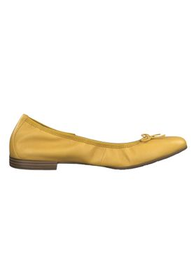 Tamaris 1-22116-22 602 Womens Sun Yellow Leather Ballerina with TOUCH-IT Sole – Bild 5