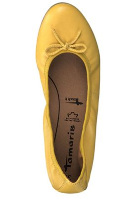 Tamaris 1-22116-22 602 Womens Sun Yellow Leather Ballerina with TOUCH-IT Sole – Bild 4